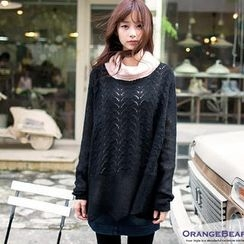 OrangeBear - Pointelle-Knit Top