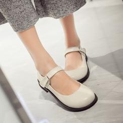 幸福鞋坊 - 铆钉平跟鞋