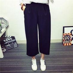 Fancy Show - Wide-Leg Cropped Pants