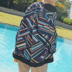 JUN.LEE - Patterned Baseball Jacket