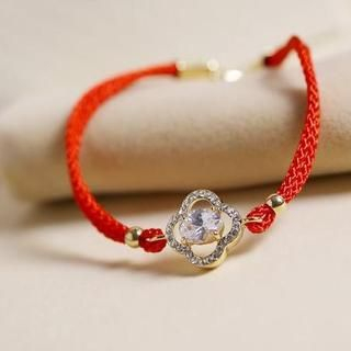 Love Generation - Rhinestone Braided Bracelet