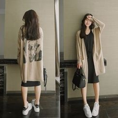 Neeya - Back Print Long Cardigan