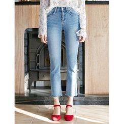 FROMBEGINNING - Slim-Fit Cropped Jeans