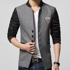 Gallant - Mandarin-Collar Applique Blazer