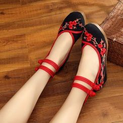 Diosa - Embroidered Wedges