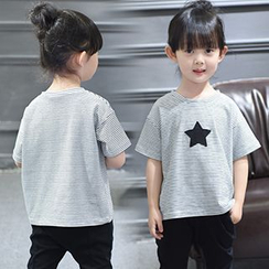 Merry Go Round - Kids Star Stripe Short-Sleeve T-shirt
