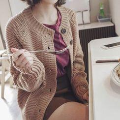 mimi&didi - Raglan-Sleeve Chunky-Knit Cardigan