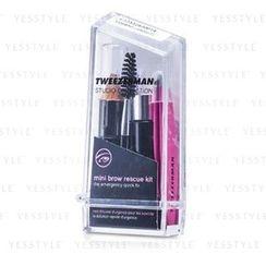 Tweezerman - Mini Brow Rescue Kit: Slant Tweezer + Browmousse + Brow Brush + Eyenhance Brow Highlighter (Studio Collection)