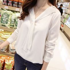 OTTI - Long-Sleeve Chiffon Blouse