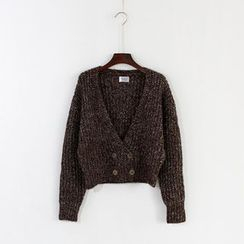 Mushroom Street - Double-Breasted Chunky Knit Cardigan