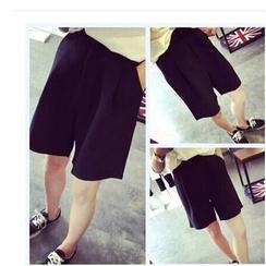 YOSH - Plain Wide Leg Shorts