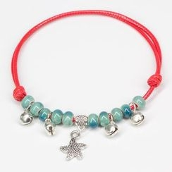 Porcelina - Beaded Anklet with Star Charm