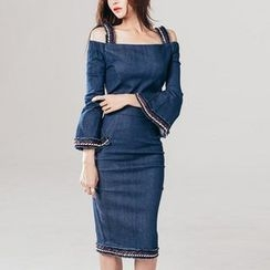 Aurora - Denim Sheath Dress