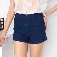 59 Seconds - High-Waist Denim Shorts