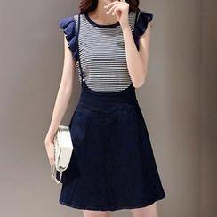 Romantica - Set: Striped Top + Jumper Skirt