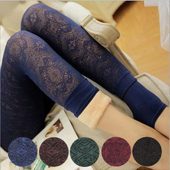 ENZA - Fleece Lined Lace Print Leggings