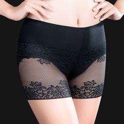 Muyi - Set of 2: Lace Panel Under Shorts