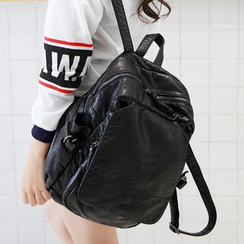 Suis MOI - Faux Leather Backpack