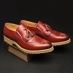 Preppy Boys - Genuine Leather Tasseled Loafers