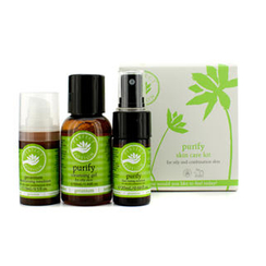 Perfect Potion Purify Skin Care Kit (Oily And Combination Skin): Purify Fine Tuning Solution 20ml/0.68oz + Purify Cleansing Gel 50ml/1.69oz + Geranium Moisturising Emulsion 15ml/0.5oz