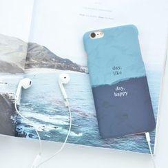 聚可爱 - 撞色字母保护套 - iPhone 6s / 6s Plus