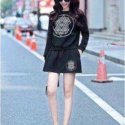 Romantica - Set: Printed Pullover + Printed Skirt