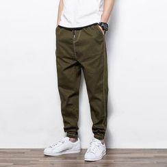 Dubel - Drawstring Elastic-Cuff Pants