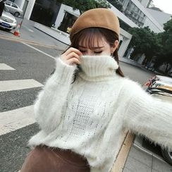 RUI - High Neck Furry Sweater