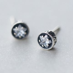 A'ROCH - 925 Sterling Silver Rhinestone Earrings