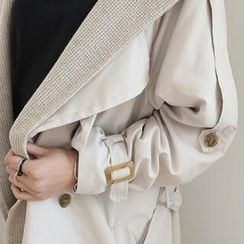 WHITE FOX - Knit Hooded Trench Coat