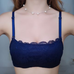 Croix - Set : Lace Panel Bra + Panties