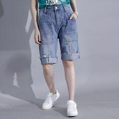Sonne - Washed Denim Shorts