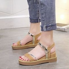 Wello - Wedge Strappy Sandals