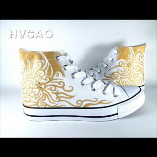 HVBAO - 'Golden' High-Top Canvas Sneakers