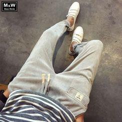Masowild - Drawstring Corduroy Pants