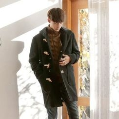Seoul Homme - Wool-Blend Hooded Duffle Coat