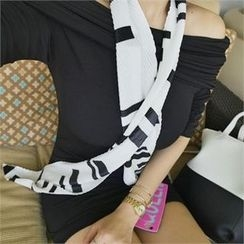 LIPHOP - Patterned Pleated Scarf