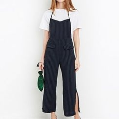 Richcoco - Striped Slit Jumpsuit