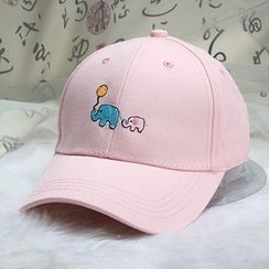 Mad Hatter - Elephant Embroidered Baseball Cap