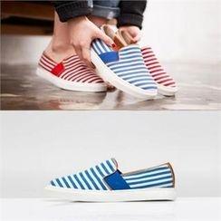 SHOES ROOM - 條紋仿皮輕便鞋