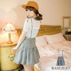 BaseZoo - Check Tiered Jumper Skirt
