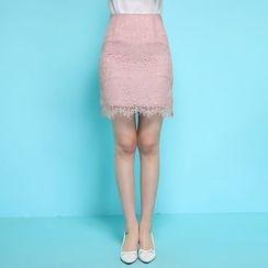 GETU - Lace Mini Skirt