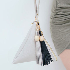 chuu - Tasseled Pyramid Hand Bag