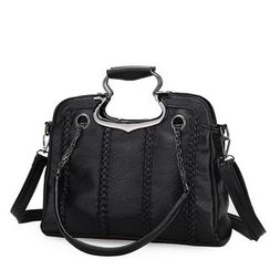 LineShow - Faux Leather Shoulder Bag