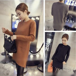 Whitney's Shop - Plain Long-Sleeve Tunic