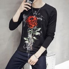 MEING - Long-Sleeve Printed T-Shirt