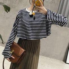 Fashion Street - Striped Long Sleeve T-Shirt