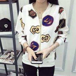 Ukiyo - Printed Zip Jacket