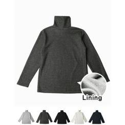 STYLEMAN - Fleece-Lined Turtle-Neck T-Shirt