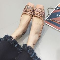 Crystella - Bow Patterned Flats